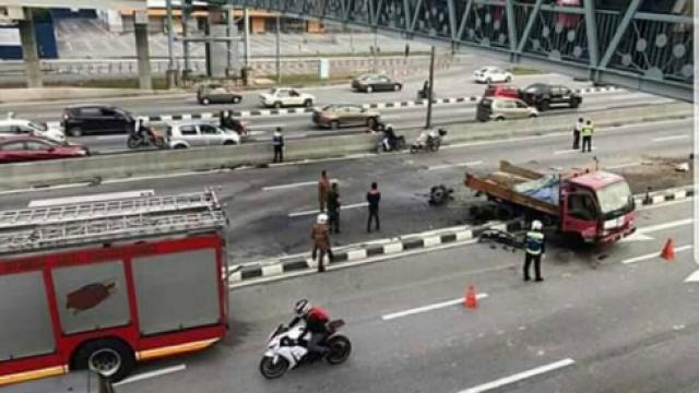 Kemalangan dua kenderaan, jalan sesak 10km